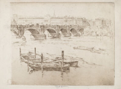 Joseph Pennell, 'Waterloo Bridge and Somerset House', 1905