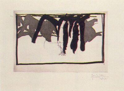 Joan Hernández Pijuan, 'Paisatge amb xiprers-I', 1985