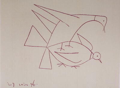 Pablo Picasso, 'Les Deux Tourterelles (Two Turtle Doves), 1949 Limited edition Lithogrph by Pablo Picasso', 1949
