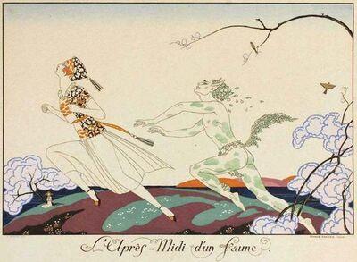 George Barbier, 'L'apres-midi d'un Faune', 1920
