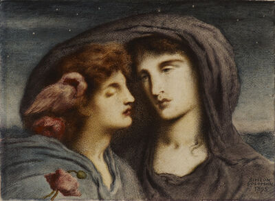 Simeon Solomon, 'Night Looking upon Sleep her Beloved Child', 1895