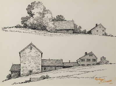 Eric Sloane, 'Hillside Homestead', Date Unknown