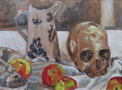 Glenn Hall, 'Still Life with Skull and Apples', 2018