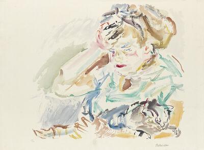 Oskar Kokoschka, 'Mädchen mit Katze'
