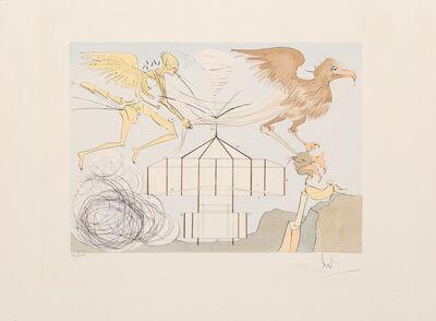 Salvador Dalí, 'L'aeroplane, from Hommage a Leonardo da Vinci', 1975