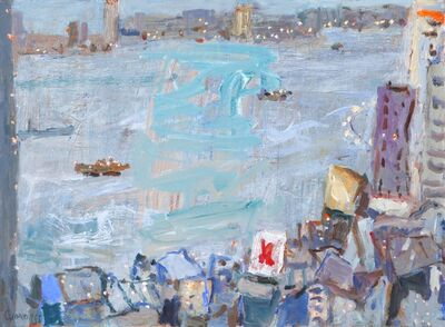 Elisabeth Cummings, 'Hong Kong Harbor at Dusk ', 2015