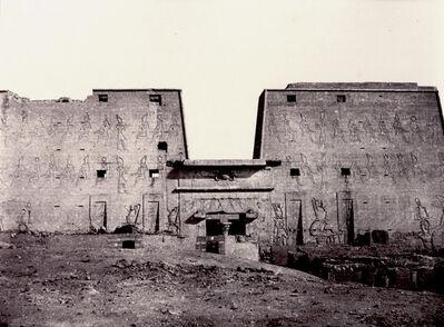 Louis de Clercq, 'V-9, Edfou, Grande Façade des Ruines', 1859-60