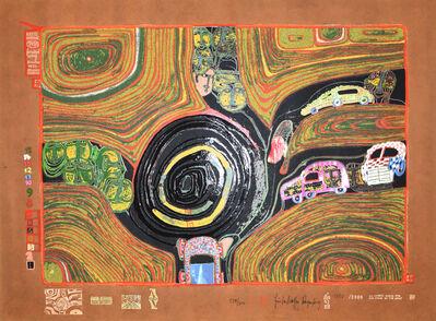 Friedensreich Hundertwasser, 'Crusade of the crossroaders | Kreisverkehr der Strassengekreuzigten ', 1971