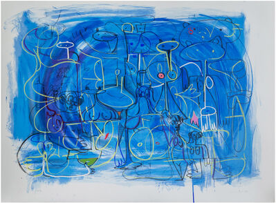 George Condo, 'Abstract Composition in Blue', 1998