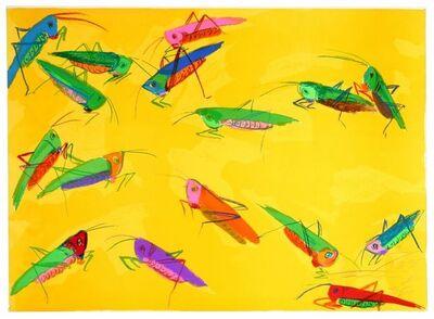 Walasse Ting 丁雄泉, 'Grasshoppers', 1986