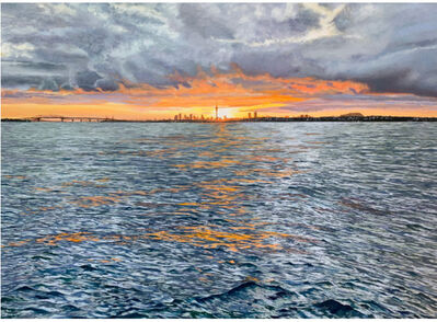 Phil Hanson, 'Blazing dawn over the Waitemata', 2021