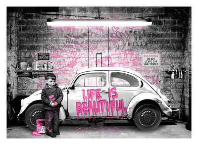 Mr. Brainwash, 'VW Beetle Pink', 2020