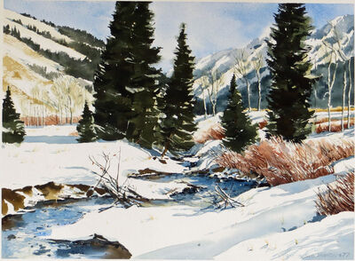 Nancy Taylor Stonington, 'Winter Scene, Idaho', 1977