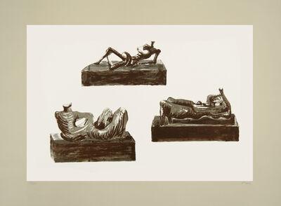 Henry Moore, 'Three reclining figures', 1976