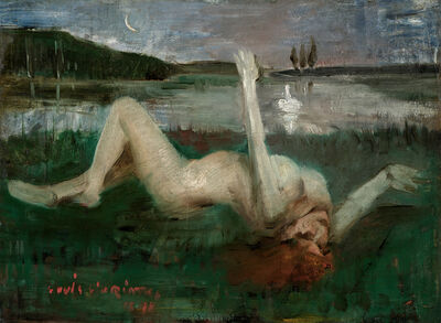 Lovis Corinth, 'Leda and the Swan', 1890