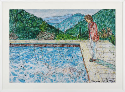 MADSAKI, 'Portrait of an Artist (pool with two figures)Ⅱ(Inspired by David Hockney)', 2020