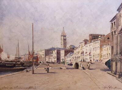 Sigmund J. Cauffman, 'Quai des Esclavons, Venice'