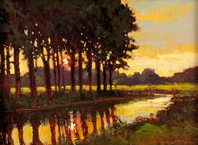 Jan Schmuckal, 'Tree Line Along Stream', ca. 2010
