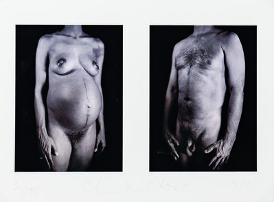 Chuck Close, 'Untitled Diptych from the Portfolio Doctors of the World', 2001