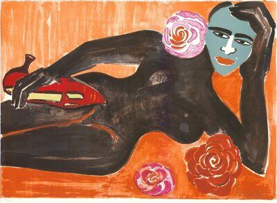 Elvira Bach, 'Selfportrait with mask (Selbst mit Maske)', 2000-2010