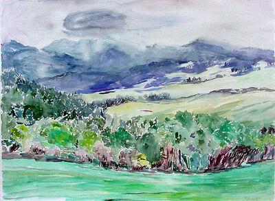 Rebecca Perehudoff, 'Mist on the Hillside', 1989