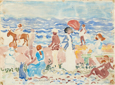 Maurice Brazil Prendergast, 'Figures at the Shore', circa 1920-1923