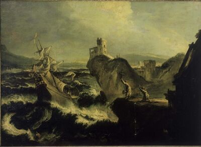 Alessandro Magnasco, called il Lissandrino, 'The Shipwreck'