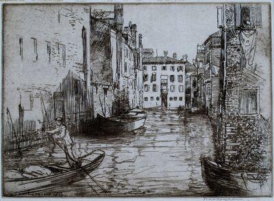 Donald Shaw MacLaughlan, 'Canal Life, Venice', 1926