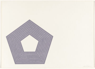 Frank Stella, 'Charlotte Tokayer (from the Purple Series)', 1972