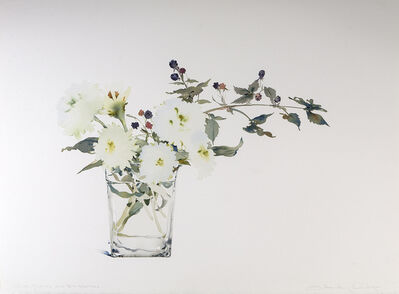 Susan Headley Van Campen, 'White Zinnias and Blackberries', 2018