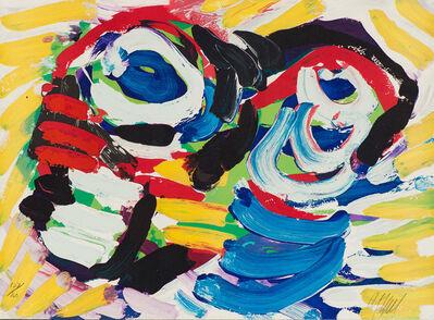 Karel Appel, 'Happy Couple (Black and Blue Eye)', 1978