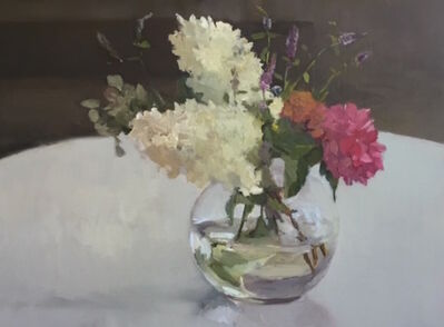Maryann Lucas, 'Hydrangeas in Round Glass', 2016