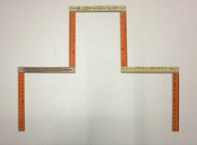 Hamish Fulton, 'Seven pieces of cut wooden ruler for: 7 one day walks from and to Samedan Via Piz Padella Engadin Switzerland 11 – 17 June 2012.', 2012