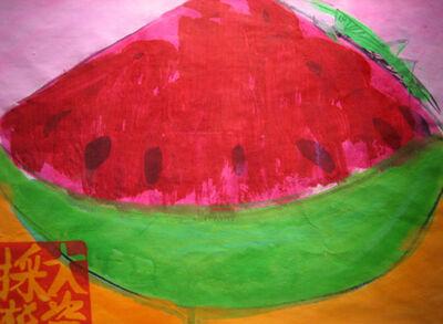 Walasse Ting 丁雄泉, 'Watermelon and Grasshopper', 1985