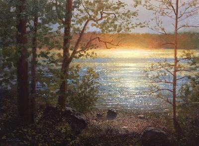Ken Salaz, 'Sunflare off Walden Pond', 2020
