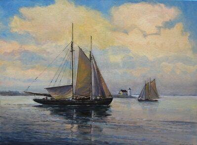 Frederick Kubitz, 'Sch. Baystate Getting Up Her Mainsail', 2020