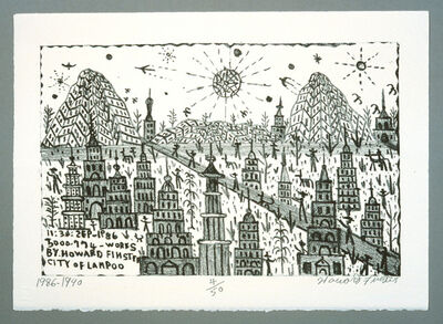 Howard Finster, 'City of Lampoo', 1990