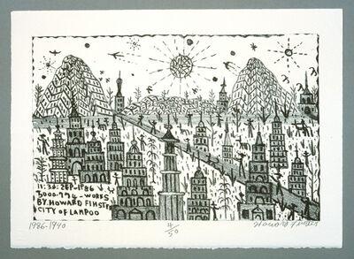 Howard Finster, 'City of Lampoo', 1990