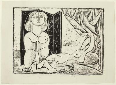 Pablo Picasso, 'Les Deux Femmes nues, State 14, 25th January 1946', 1946