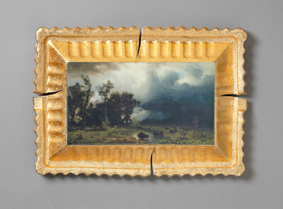 Evan Hauser, 'Preservation & Use (Buffalo Trail: The Impending Storm, Albert Bierstadt, 1869)', 2019