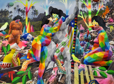 Okuda San Miguel, 'The Conquer of the Trash Mountain', 2018