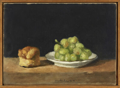 Robert Kulicke, 'Plate of Green Grapes and Soda Biscuit', 1984