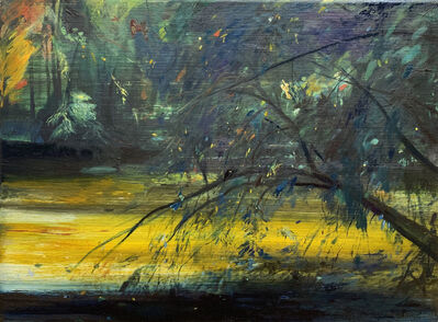 Calum McClure, 'Tree and Yellow Pond', 2019
