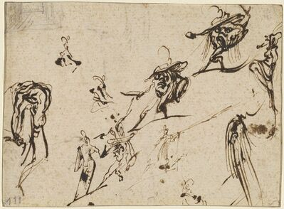 Jacques Callot, 'Gobbi and Other Bizarre Figures', 1616 /1617