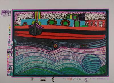 """Friedensreich Hundertwasser, 'Regentag auf Liebe Wellen"""" (""""Rainy Day on Love Waves""""), 1971', 1971"""