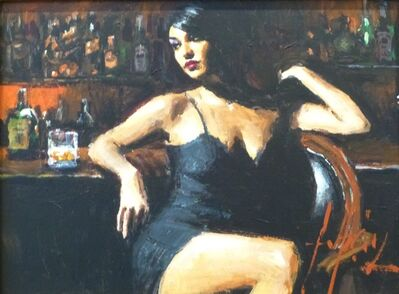 Fabian Perez, 'Study for Saba at the Bar', 2017