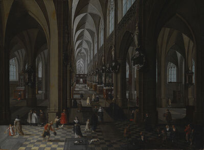 Peeter Neeffs, the elder, 'Interior of Antwerp Cathedral', 1651