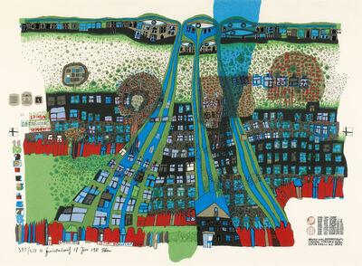Friedensreich Hundertwasser, 'Let us pray Manitou wins', 1981