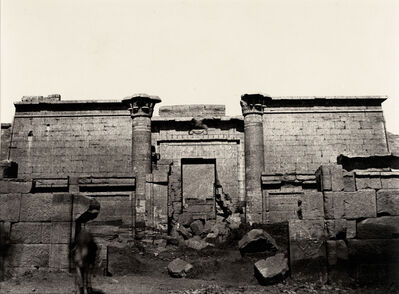 Louis de Clercq, 'V-25, Medinet-Abou, Grande Entree', 1859-1860