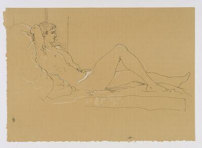 John Craxton, 'Reclining Male Nude', ca. 1970